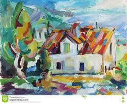 Painting House by Oil Painting House Near The Sea Stock Illustration Image 45981357