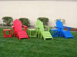 plastic adirondack chairs with ottoman colorful chairs green frog s recycled plastic outdoor furniture
