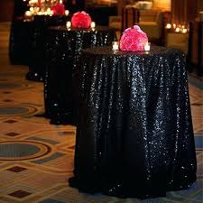 black gingham plastic tablecloth roll paper checkered sequin round