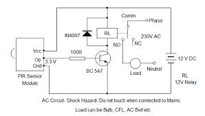 pir sensor alarm electronics hobby