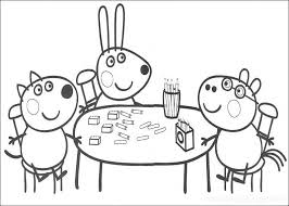kids peppa pig colouring pages kids printable cartoon coloring