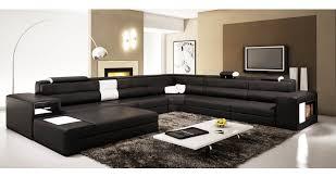 canapé panoramique deco in 7 canape panoramique cuir angle gauche noir et blanc