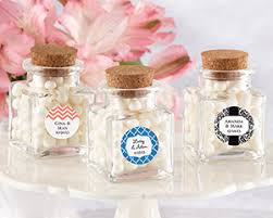 jar favors treat personalized square glass favor jar with cork