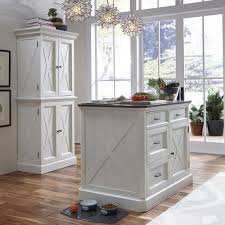 Kitchen Island Construction Home Styles Seaside Lodge Hand Rubbed White Kitchen Island With