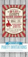 9 best printable birthday party invitations images on pinterest