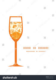 wine glass silhouette vector golden art flowers wine glass stock vector 248233921
