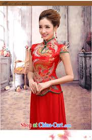 baby bridal long gown red improved retro bridal dresses wedding
