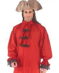 Red Shirt Halloween Costume Colonial Pirate Shirt