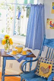 Yellow Plaid Kitchen Curtains by Curtains Kitchen Curtains Blue Also Trendy Blue And Brown