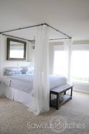 177 best diy beds images on pinterest bedroom ideas canopy beds take it from me diy canopy bed tutorial guest post don t forget to thread the curtain over corners not the faces for full curtain coverage