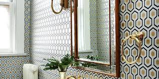 decorated bathroom ideas modern wallpaper for bathrooms ideas contemporary designs bathroom