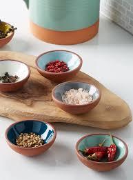 vaisselle en terre cuite les petits bols terracotta ensemble de 6 danica vaisselle de