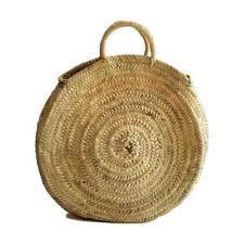Beach Basket Straw Shopping French Market Basket Beach Bag Large Moroccan Tote