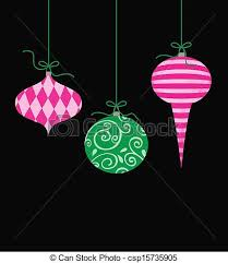 stock illustration of whimsical hanging ornaments