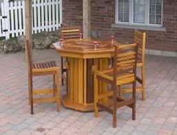 Patio Bar Table Atponds Cedar Patio Furniture