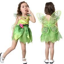 fairy halloween costume kids online shop vocole children u0027s deluxe green tinkerbell fairy