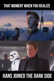 Frozen Movie Memes - this would make a lot of sense star wars pinterest star