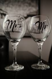 wedding gift glasses mr mrs wine glasses wedding gifts for and groom 10 00