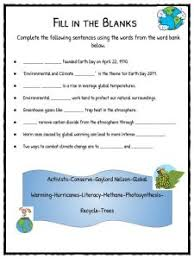 earth day facts worksheets u0026 climate change information for kids