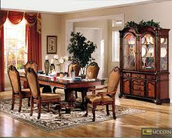 7 pc high end cherry finish dining room set table and chairs zac04075