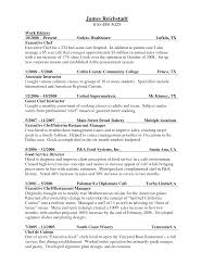 Resumes Samples For Students by Resume For Culinary Student Resume For Your Job Application