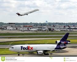 Atlanta Airport Food Map by Fed Ex Plane At Atlanta Airport Editorial Photo Image 31408011
