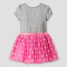 toddler girls u0027 minnie mouse birthday dress gray target