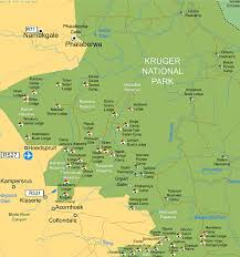map central central region kruger national park south safari and