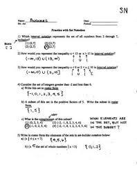 worksheet 4 6 sigma notation