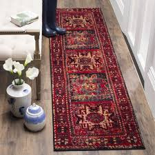 Overstock Com Rugs Runners Safavieh Vintage Hamadan Traditional Red Multi Distressed Runner