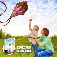 sweet ice cream kite for kids launches at the slightest breeze
