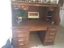 Oak Crest Desk Oak Roll Top Desk Ebay