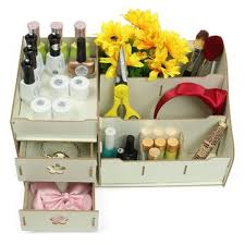 Cosmetic Cabinet Wpc Makeup Cosmetic Box Drawers Holder Storage Perfume Jewellery