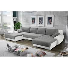 canap d angle convertible gris et blanc canapé d angle convertible en u teren gris et blanc achat vente