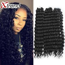crochet weave with deep wave hairstyles for women over 50 18 75g 15roots deep wave synthetic hair bundles brazilian hair