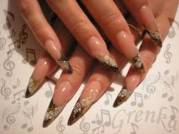 new acrylic nail designs 2012