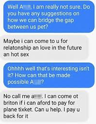woman shuts down a creepy scammer on facebook daily mail online
