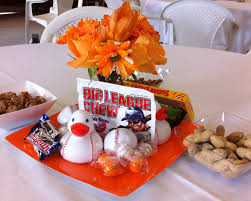 baseball centerpieces centerpieces for sf giants theme baby shower baseball ducks from