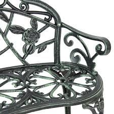 bcp outdoor patio garden bench park yard furniture cast iron