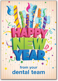 new year post card dental new year s postcards smartpractice dental