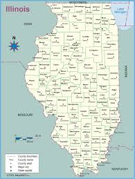 Illinois County Map by Illinois County Outline Wall Map Maps Com