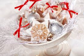 Food Gifts For Christmas Small Gingerbread Gifts For Guests For Christmas Dinner Stock