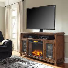 tamonie rustic brown extra large tv stand with lg infrared