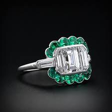 art deco diamond emerald ring ca 1930 u0027s antique engagement