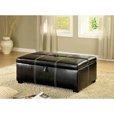 coffee tables leather cocktail ottoman round table storage bench