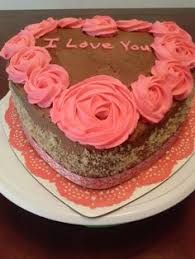 Heart Shaped 2 Layers Mother U0027s Day Cake Decorated With 12