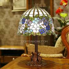 small tiffany style ls vintage water lily pattern 2 light tiffany style l