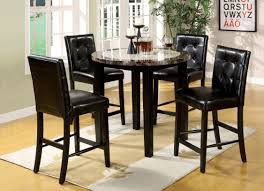 furniture of america yellans 5 piece counter height dining set