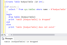 sql server create table syntax how to use sql drop table if table exists in sql database