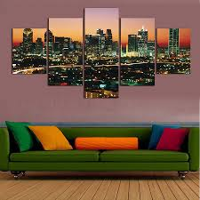 2017 sale limited rectangle 5 pcs modern wall oil paintings